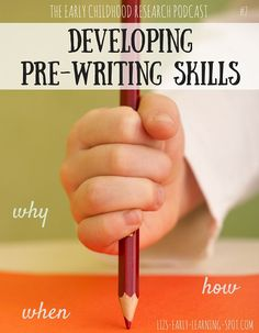 How do we develop pre-writing skills in our children to help them become successful writers? This podcast will tell you how! FREE printables.