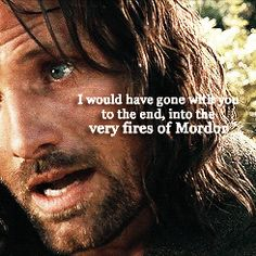 This is a great part of why Aragorn rocks! He loves his people and always puts them ahead of himself.