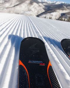 The #BlizzardQuattro wants to take a slice out of this. #BlizzardSkis #FreeToMakeYourMark #carving #skiing #corduroy