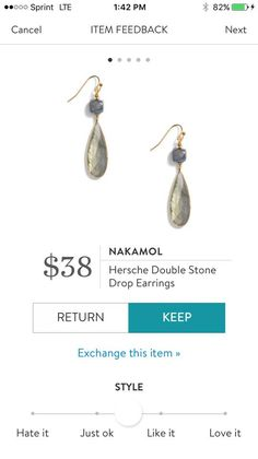 Nakamol Hersche Double Stone Drop Earrings. I love Stitch Fix! A personalized styling service and it's amazing!! Simply fill out a style profile with sizing and preferences. Then your very own stylist selects 5 pieces to send to you to try out at home. Keep what you love and return what you don't. Only a $20 fee which is also applied to anything you keep. Plus, if you keep all 5 pieces you get 25% off! Free shipping both ways. Schedule your first fix using the link below! #stitchfix…