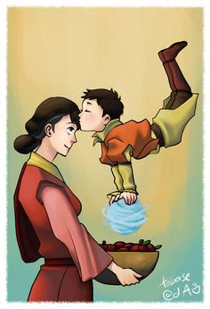 I can imagine Rohan growing up to be an adorable mama's boy... kinda like how Tenzin seems to have been