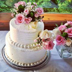 nice vancouver wedding The Cake #WeddingCake #FamilyWedding #Buttercream #FreshFlowers #Roses #WeddingDay #Cake #SummerWedding  #vancouverwedding #vancouverweddingcake #vancouverwedding