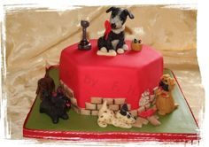 Dogs by cakesbyme-FH on Cake Central