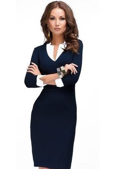 31 Trendy Business Casual Dress for Ladies - Bellestilo Dresses For Teens, Trendy Dresses, Women's Fashion Dresses, Nice Dresses, Dresses For Work, Dress Work, Elegant Dresses, Fashion Clothes, Floryday Dresses