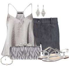 """""""Silver Animal Print Clutch"""" by cathy0402 on Polyvore"""