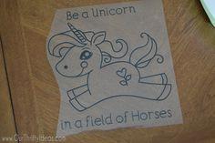 DIY Watercolored T-shirt Tutorial plus how you can make the custom Unicorn design T Shirt Tutorial, Unicorn Horse, Lake Powell, Silhouette Cameo Projects, Cricut Creations, Space Crafts, T Shirt Diy, My Baby Girl, Unicorns