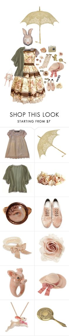 """""""Antiquities"""" by vogelprinz ❤ liked on Polyvore featuring American Eagle Outfitters, eliurpi, Amélie Pichard, J by Jasper Conran, Cara, Nach, By Emily, Frasco, lolita and rufflebutts"""