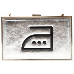 Pre-Owned Anya Hindmarch Silver Leather Clutch Bag Anya Hindmarch Fashion, Leather Clutch Bags, Marshall Speaker, Silver, Hand Bags, Leather Clutch, Clutch Bags, Colors, Women