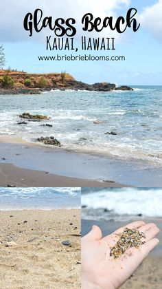 Kauai Glass Beach in Hawaii Beach Vacation Tips, Kauai Vacation, Hawaii Honeymoon, Beach Trip, Vacation Destinations, Vacation Ideas, Beach Travel, Beach Vacations, Honeymoon Ideas