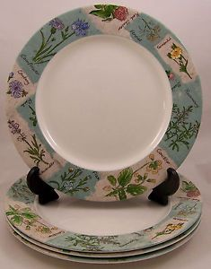 Set-of-4-Royal-Doulton-Everyday-Wildflowers-Dinner-Plates-TC1219