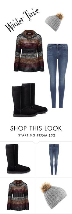 """""""Winter Time Apperal"""" by ryeleighmouser-9 on Polyvore featuring UGG, 7 For All Mankind and Joe Browns"""