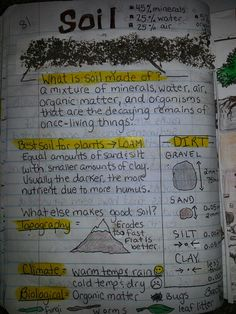 Soil: Teaching students about types and properties of soil notebook activity for or grade Earth Science Lessons, Fourth Grade Science, Earth And Space Science, Science Resources, Middle School Science, Elementary Science, Science Classroom, Teaching Science, Science Education