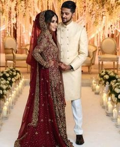 Weddings Discover Royal red heavy embroidered zardosi handwork bridal lehenga and cream peach colour pre raw silk sherwani.Get the outfit for Manufacturer rate call or WhatsApp at Asian Bridal Dresses, Asian Wedding Dress, Pakistani Wedding Outfits, Pakistani Bridal Dresses, Pakistani Wedding Dresses, Bridal Outfits, Indian Dresses, Indian Outfits, Indian Bridal Lehenga
