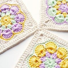 THIS IS THE ONE FOR SOPHIE!! African Flower Square crochet pattern