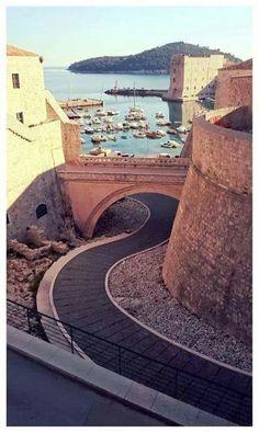 Down a side road in #Dubrovnik