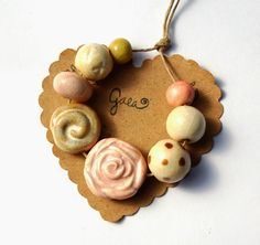 Gaea Ceramic Bead and Art Studio Blog: Sweet rose ceramic bead sets. gaea.cc