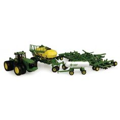 Ertl 1 / 64 John Deere 9530 Tractor with  Commodity cart , Seed Jet planter and  Anhydrous Ammonia  tank.