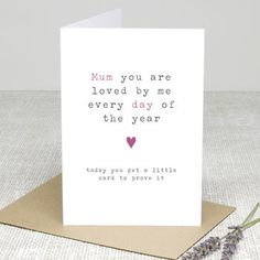 'Loved Every Day' Personalised Greetings Card