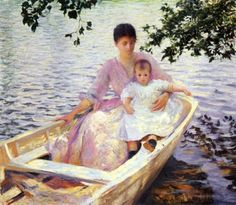 Mother and Child in a Boat 1892 by Edmund Charles Tarbell (Museum of Fine Arts, Boston, Massachusetts )