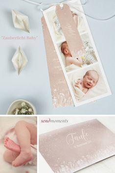 """Das einzigartige Ereignis der Taufe formschön und individuell ankündigen: Einladungskarte zur Taufe Ihres Babys """"Zauberlicht Baby"""".n#baby #taufe #einladungen #einladungskarten #tauffeier #tauffest #taufpaten"""