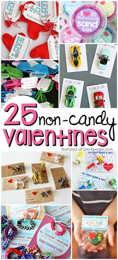 25 Non Candy Valentines for Preschool and Kindergarten Kids. Super Cute Ideas for Valentine's Day!