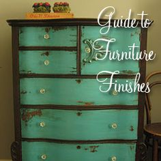 Beautiful green and brown distressed chest
