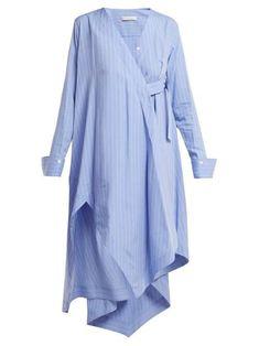 Palmer//Harding Asymmetric Striped Shirtdress