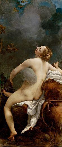 Io-Sua beleza despertou a paixão de Zeus, que para cortejá-la cobriu o mundo com um manto de nuvens escuras, escondendo seus atos da visão de Hera. A estratégia falhou e a deusa, desconfiada, desceu do monte Olimpo para averiguar o que estava acontecendo. Numa vã tentativa de iludir sua esposa ciumenta, o deus transformou sua amante em uma belíssima novilha branca. Intrigada pelo interesse do marido no animal e maravilhada com a beleza do mesmo...