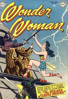 A cover gallery for the comic book Wonder Woman Dc Comic Books, Vintage Comic Books, Vintage Comics, Comic Book Covers, Comic Book Characters, Comic Book Heroes, Star Comics, Dc Comics Superheroes, Batman Comics