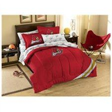 Louisville Cardinals NCAA Full Embroidered Comforter With Sham