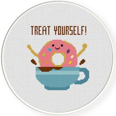 FREE for Oct 16th 2015 Only - Treat Yourself! Cross Stitch Pattern