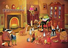Mr Toad's Speech Giclee Print Whimsical Art I want to know what he was telling everyone! Mr Toad, Thing 1, Illustration Art, Illustrations, Whimsical Art, Nursery Prints, Girl Nursery, Fine Art Paper, Giclee Print