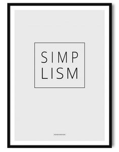 Simplism poster A3 - Another Poster Shop
