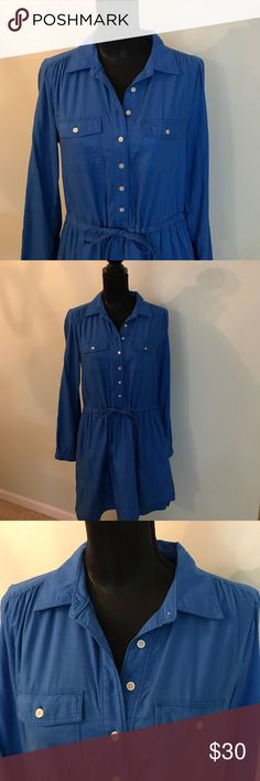 GAP women's blue , long sleeve dress GAP Designed & Crafted women's blue , long sleeve dress in good condition. Size M. GAP Dresses Long Sleeve