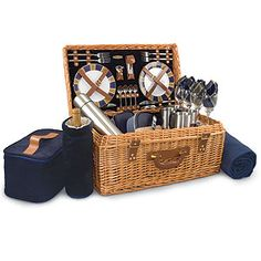 Eastbourne Picnic Basket from World Market - Bring along a home-made gourmet meal (because what woman doesn't love for her man to do some cooking!). Don't forget a special bottle of wine and perhaps some chocolate-dipped strawberries. I hear World Market also has some delicious wines :)