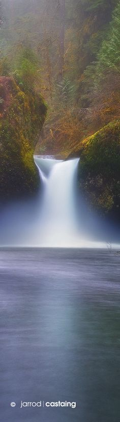 Punch Bowl Falls, Eagle Creek, Columbia River Gorge, Oregon, USA by Jarrod Castaing Fine Art Photography