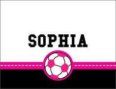 Custom Monogrammed Soccer Girl Note Cards and exclusive and new design from Script and Scribble.
