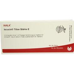 ISCUCIN TILIAE St.E Ampullen:   Packungsinhalt: 10X1 ml Ampullen PZN: 04429562 Hersteller: WALA Heilmittel GmbH Preis: 41,92 EUR inkl. 19…