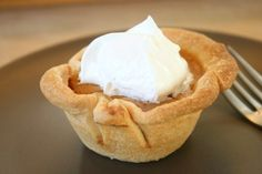 Mini Pumpkin Pies in a Muffin Tin - Holiday Cottage