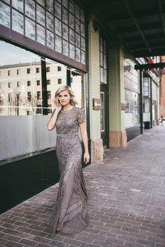 Wild One Forever - Beaded Arianna Papell Gown @adriannapapell  Photos: @emmylowephotos