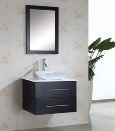 30 Inch Single Sink Vanity With Espresso Finish and White Cultured Marble Top Vanity Sink, Single Bathroom Vanity, Cheap Decor, Virtu Usa, Floating Vanity, Luxury Bathroom Vanities, Bathroom Vanity, Cultured Marble, Marble Top