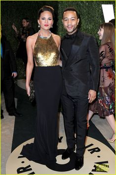 Chrissy Teigen & John Legend - Vanity Fair Oscars Party 2013