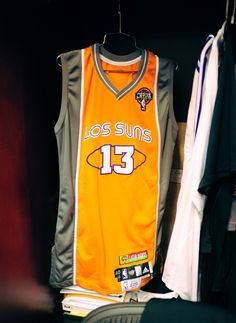 """The Phoenix Suns introduced """"los Suns"""" jerseys in 2009, in honor of the Hispanic community in Arizona."""