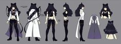 """Blake Belladonna is one of the main protagonists of RWBY. Her weapon of choice is a Variant Ballistic Chain Scythe (VBCS) named Gambol Shroud. She first appeared in the """"Black"""" Trailer alongside Adam Taurus, her then-boyfriend, partner, and mentor in the White Fang, a Faunus terrorist group. After leaving the organization, Blake enrolls in Beacon Academy, where she becomes a member of Team RWBY alongside Ruby Rose, Weiss Schnee and Yang Xiao Long."""