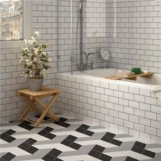 "5.5""x9.5"" Rhombus Black Porcelain Floor/Wall Tile"