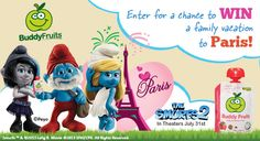 Buddy Fruits + Smurfs 2 Movie = Trip to Paris? Yes! Check out the sweepstakes on the Buddy Fruits Facebook page. #ad