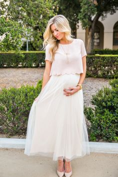 a0fa49563f Keira Blush Scallop Lace Top – Morning Lavender Maternity Skirt