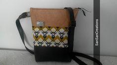 Sac / Pochette à porter en bandoulière Modèle Tissu japonais Kokka-Echino : Sacs bandoulière par sansancreations