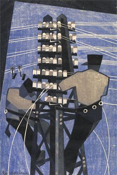 'Fixing the Wires' by Lill Tschudi (Print)