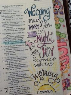 .Weeping may endure for a night .............. (Psalm 30.5)